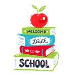 Apple with Back to School lettering